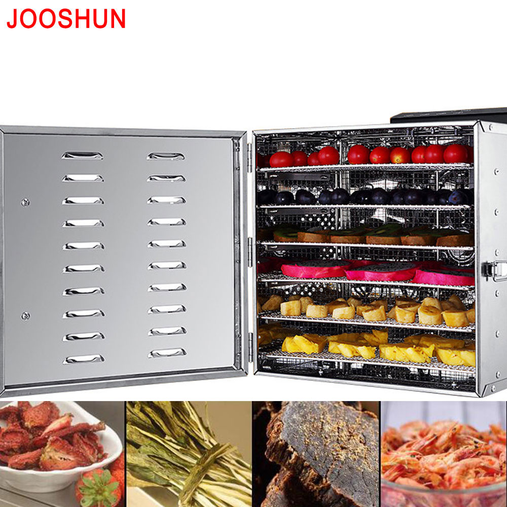 Temperature Control Stainless Steel Food Dehydrator Machine Dryer for Fruits, Herbal and Vegetables Food Processor NEW Brand fast food leisure fast food equipment stainless steel gas fryer 3l spanish churro maker machine