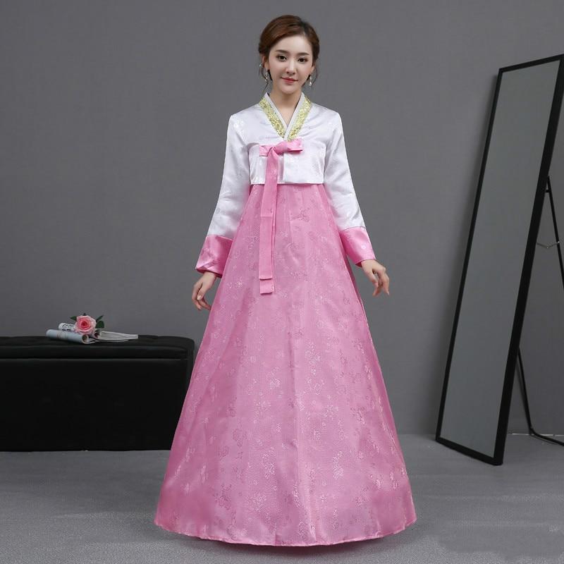 Mujeres vintage ropa tradicional coreana boda femenina traje hanbok ...