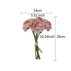 Image 5 - Rosa seide hortensien künstliche blumen hochzeit blumen für braut hand seide blühende pfingstrose gefälschte blumen weiß hause dekoration