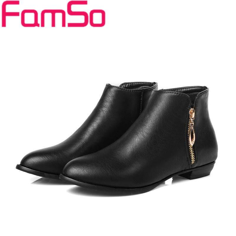 Plus Size34 45 2016 new font b Women b font boots black Autumn Riding Boots Autumn