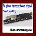 100% test & bom trabalho 4S motherboard, original desbloqueado 16g para o iphone 4s mainboard, placas de celular frete grátis