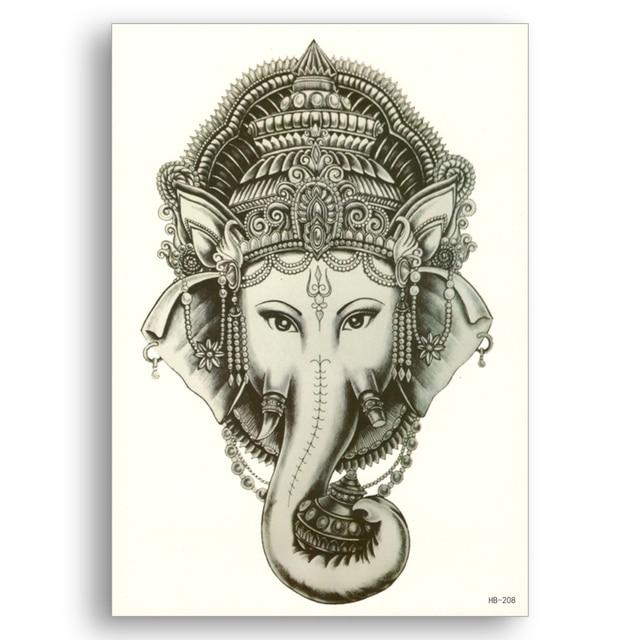 Aliexpress Com Buy India Elephant God Tattoos Cool: Fake Tattoo Water Transfer Waterproof Temporary Stickers