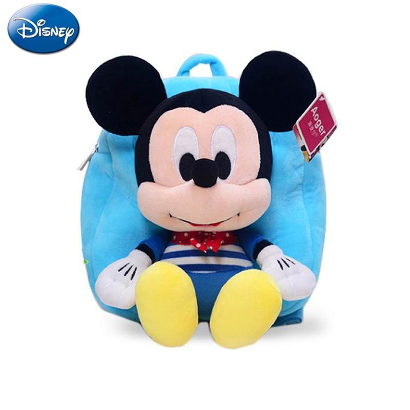 30cm Disney Mickey Mouse Bag Kids Cartoon Minnie Plush Backpack Original Disney Brand Bags For Little Girls Plush Bag