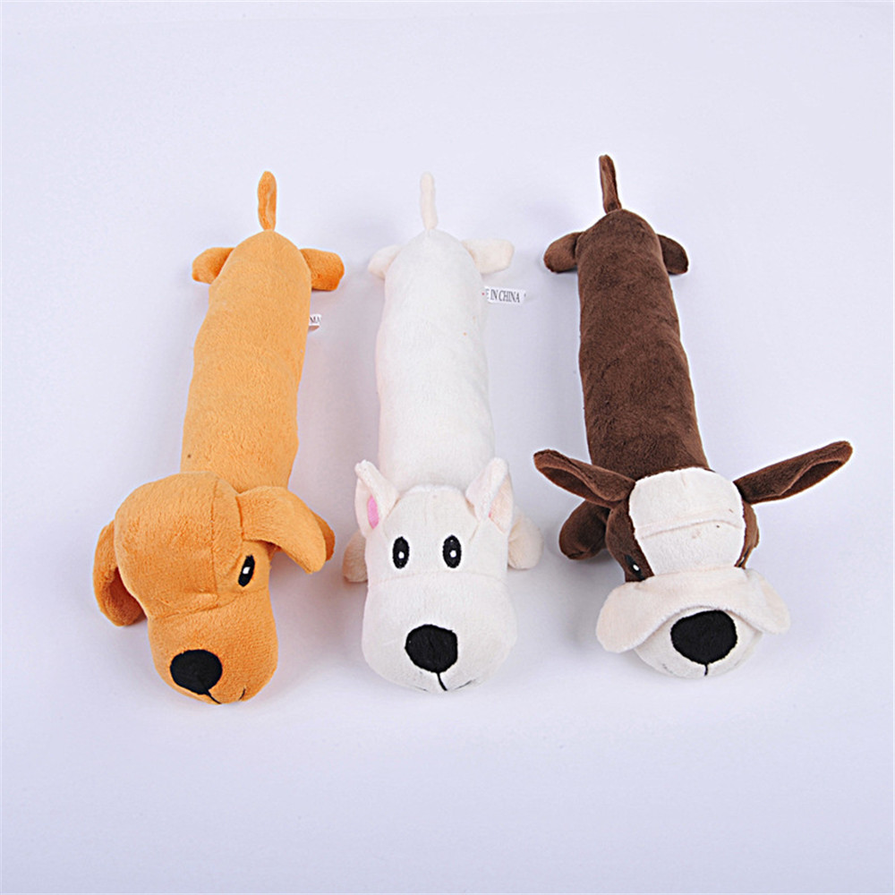Dog Cat Pet Chew Squeaker Squeaky PP Cotoon Durability Sound Toy Cute Dog Dolls Bite Toys Dog Accessories Pet Products Toys