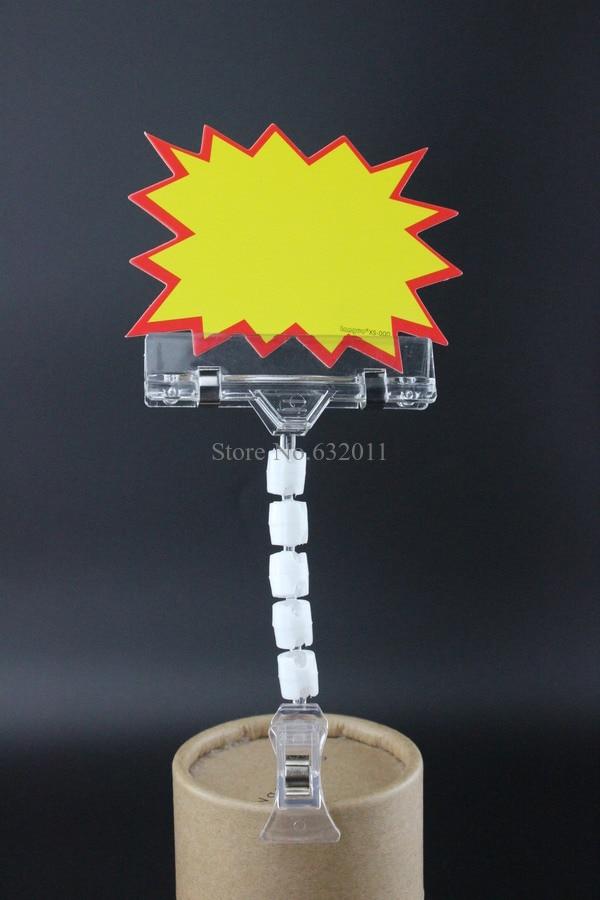 POP Sign Clip Price Card Advertising Tag Clip Label Holder Adjustable Clear Plastic Sign Holder Price Talker Memo Photo Clip