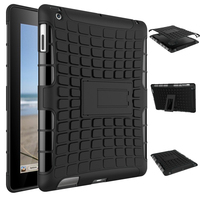 ShockProof Rubber Hybrid Heavy Duty Stand PC TPU Hard Fundas Case For Apple IPad 2 3