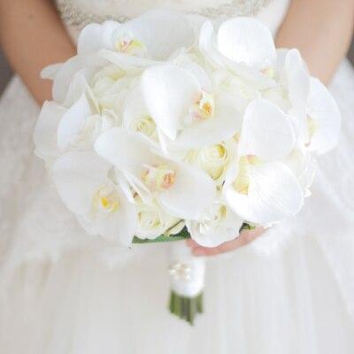 JaneVini Bouquet de Boda Occidental para Novias Flores Artificiales - Accesorios de boda - foto 3