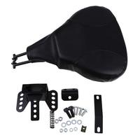 Black Fan Shaped Motorcycle Seat Bracket Mounts Cafe Racer Seat Chopper Bobber Motocross Cushion Pad For