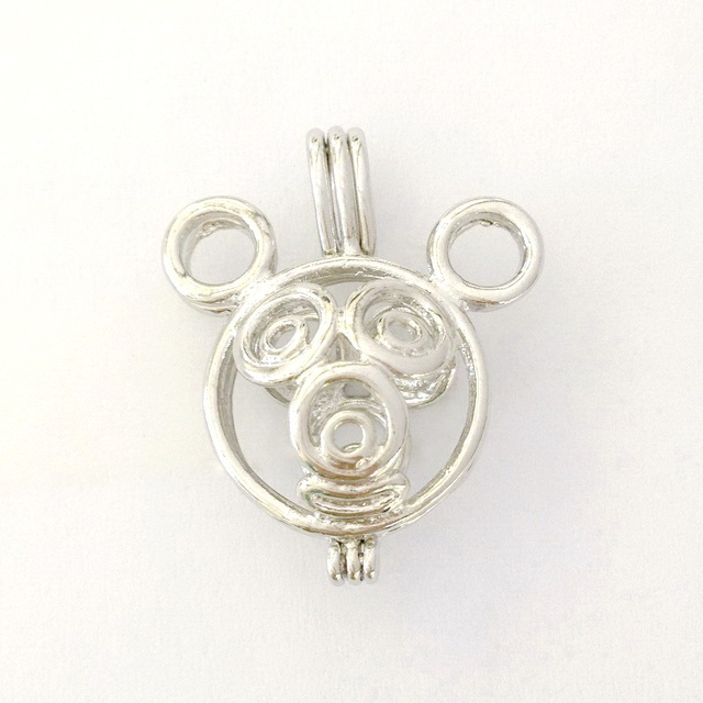 Aliexpress buy 18kgp cute mouse style cage locket wish pearl 18kgp cute mouse style cage locket wish pearl pendant mounting for diy fashion jewelry charms aloadofball Image collections