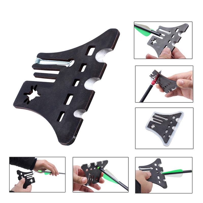 Multifunctional Arrow Repair Tool Fletch Removing Gear Cleaner Bow Nock Adjusting Device For Archery Hunting Shooting