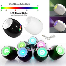 Creative 256 Colors Led Light Living Color Changeable Mood Light led with Touchscreen Scroll Bar Lamp For Christmas Wedding