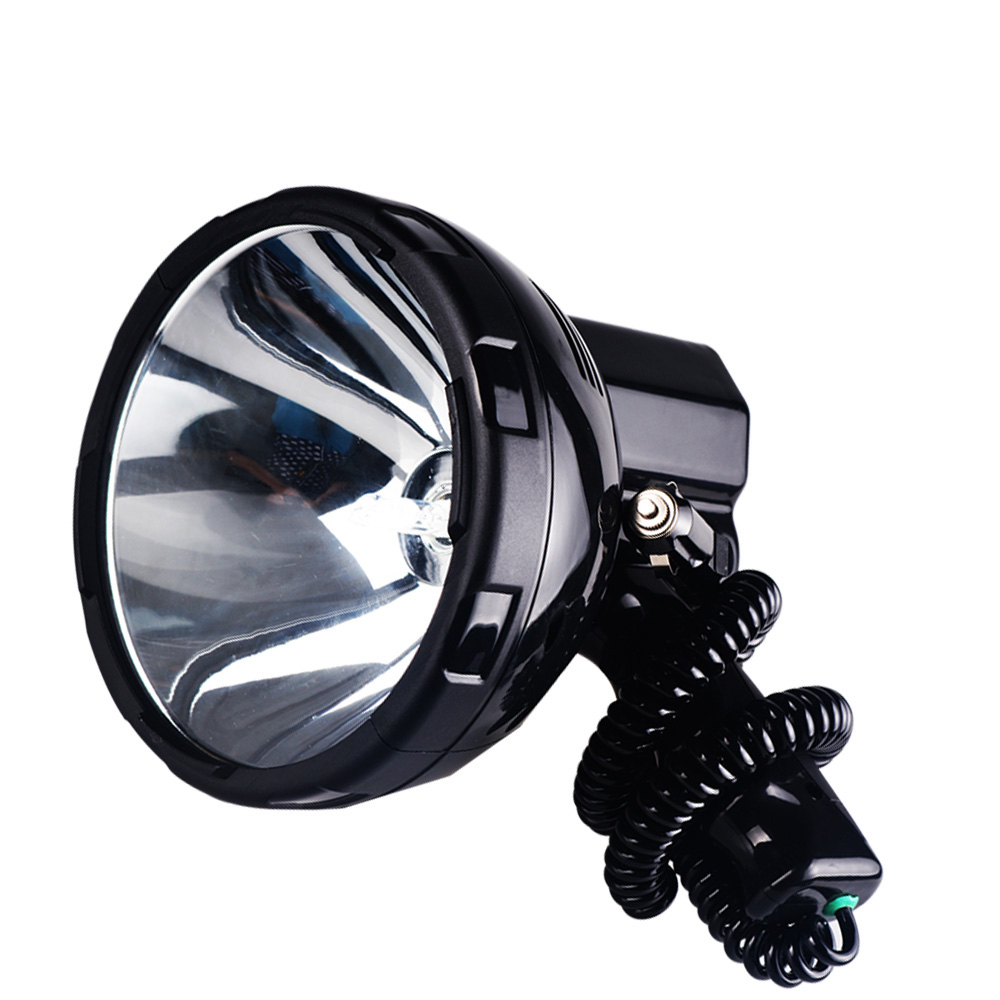 Bright Protable HID spotlight 220W xenon search light hunting 12V searchlight 35w 55w 65w 75w 100w