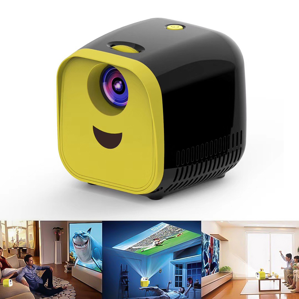 In Stock Full HD 1080P Kids Mini Projector L1 Cute Children's Mini Early Education Projector Portable LED Beamer Support TF Card