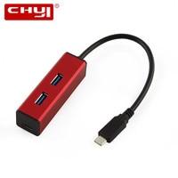 Multi Function USB C Hub Hab High Speed USB Type C To 3 Ports USB 3