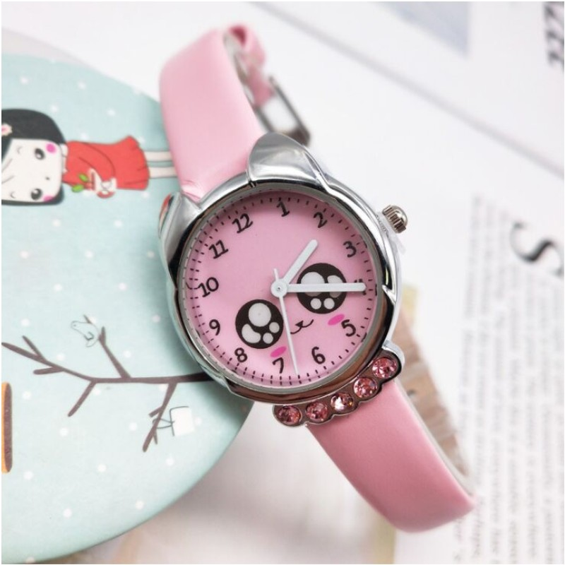 2019 Cute Cartoon Quartz Wristwatch Children Leather Ladies Watch Poor Little Cat Kids Watches Kid Boy Girls Relojes
