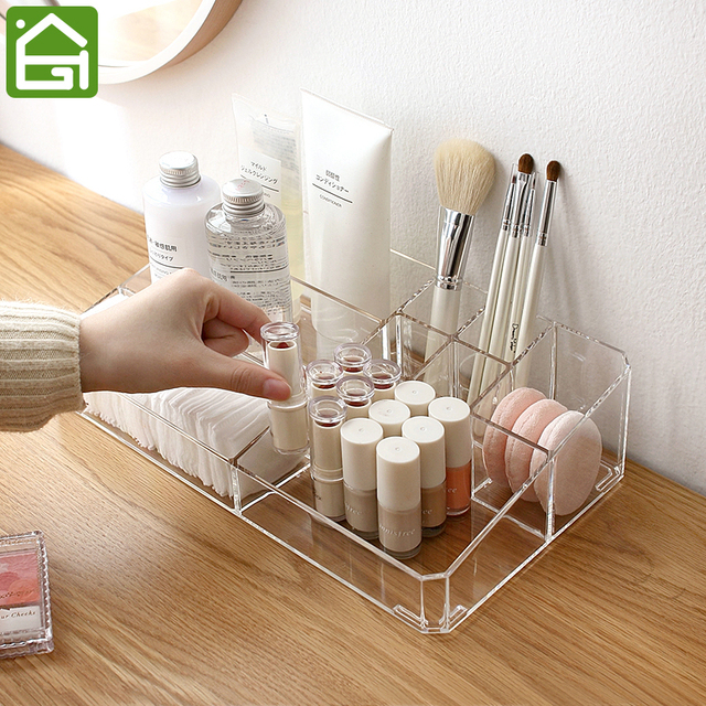 LARGE Acrylic Makeup Organizer Office Organizer Box Cosmetic Plastic Storage  Box Desk Bathroom Cosmetic Storage Case