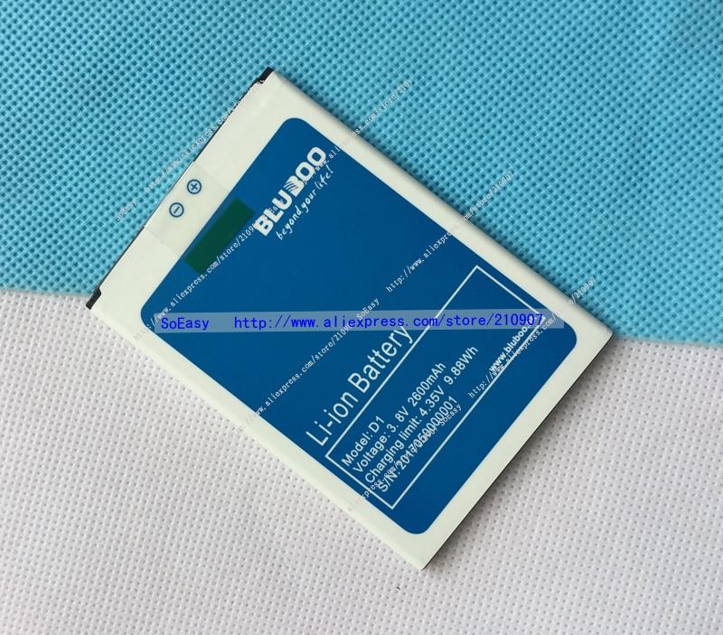 Original BLUBOO D1 Battery For BLUBOO D1 Mobile Phone 2600mAh Batterie Bateria Batterij AKKU