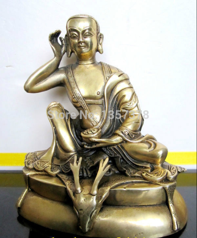 shitou 00271 Tibetan bronze PRIORITY MILAREPA buddha statue