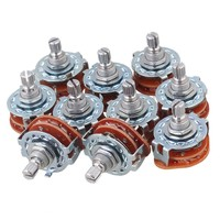 Chrome 3p4t Guitar Amplifier Rotary Switch For Custom Wiring Set Of 10