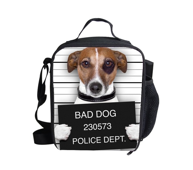 FORUDESIGNS kids thermal lunch box animal bad dog lunch bags children zoo insulated lunch bags gifts  animals baby picnic bag