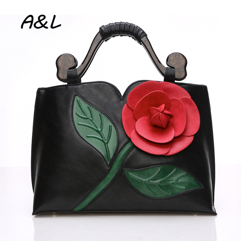 2019Classic Vintage Flower Handbag Luxury Brand Designer Leather Tote Lady Office Business Casual Shoulder Messenger Bag A00712019Classic Vintage Flower Handbag Luxury Brand Designer Leather Tote Lady Office Business Casual Shoulder Messenger Bag A0071