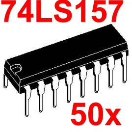 ( 50 pcs/lot ) 74LS157 Logic IC, DIP Package,TTL.
