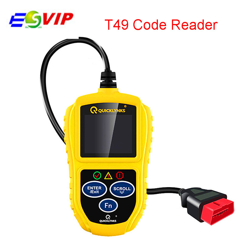 New T49 OBDII CAN Car Code Reader Scanner T49 OBD Code Diagnostic Tool free shipping
