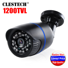 Wholesale Real 1200TVL Cmos HD CCTV Camera IRCUT 24led 30m Night Vision Video Waterproof IP66 monitoring security mini vidicon