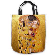 Custom Canvas Gustav_Klimt_ (1) Tote Hand Bags Shopping Bag Casual Beach HandBags Foldable 180911-02-15