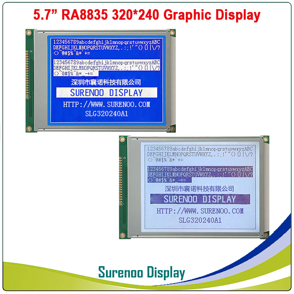 5 7 320X240 320240 Graphic LCD Module Display Panel Screen LCM with RA8835 Controller Blue Gray