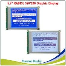 """5.7 """"320X240 320240 גרפי LCD מודול תצוגת פנל מסך LCM עם RA8835 בקר כחול אפור LCD, LED תאורה אחורית"""