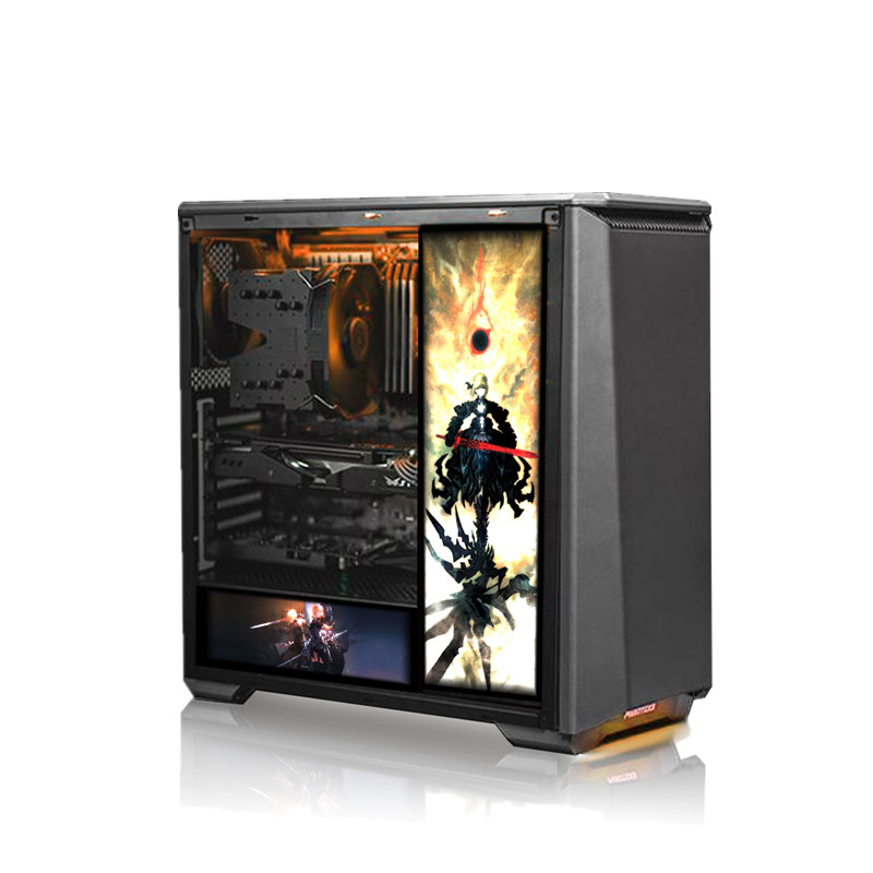 Image 2 - Customized PC Case Side Panel GPU Backplane RGB Faith Light  Colorful /RGB /D RGB AURA Streamer Backplate For Case/Graphics Card-in Fans & Cooling from Computer & Office