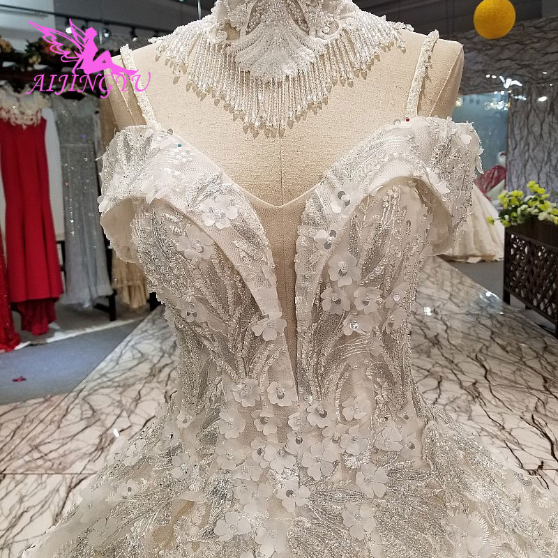 AIJINGYU Fashion Wedding Dresses Best Price Gowns This Season'S Bride Designer Best Cathedral Store Indonesia Muslim Dress