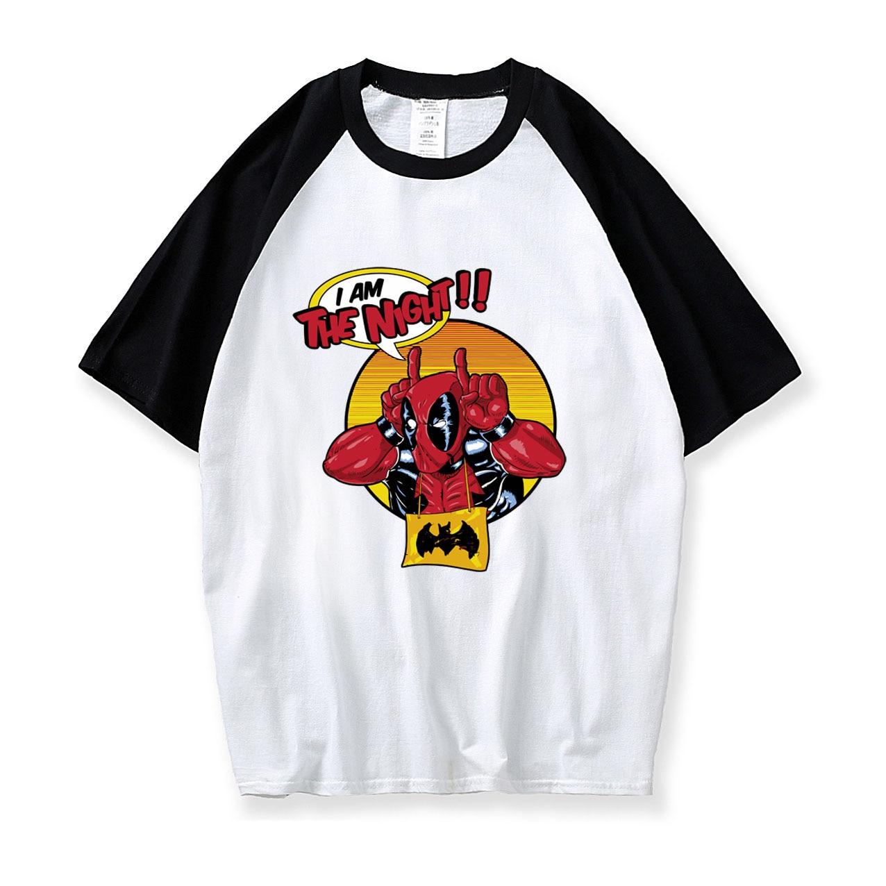 Men Funny o-neck cotton printed T-shirt summer deadpool raglan sleeve T Shirt streetwear harajuku Camisetas 2019 tee shirt homme