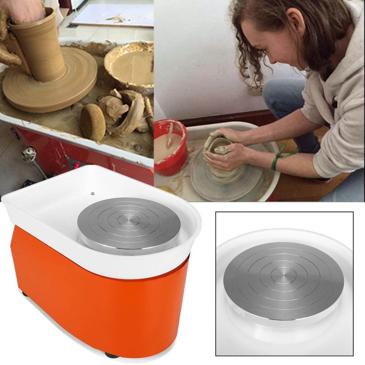 Poterie roue Machine EU/AU/US 25 cm AC 220 V 250 W Flexible pédale en céramique travail céramique argile Art avec Mobile lisse à faible bruit - 4