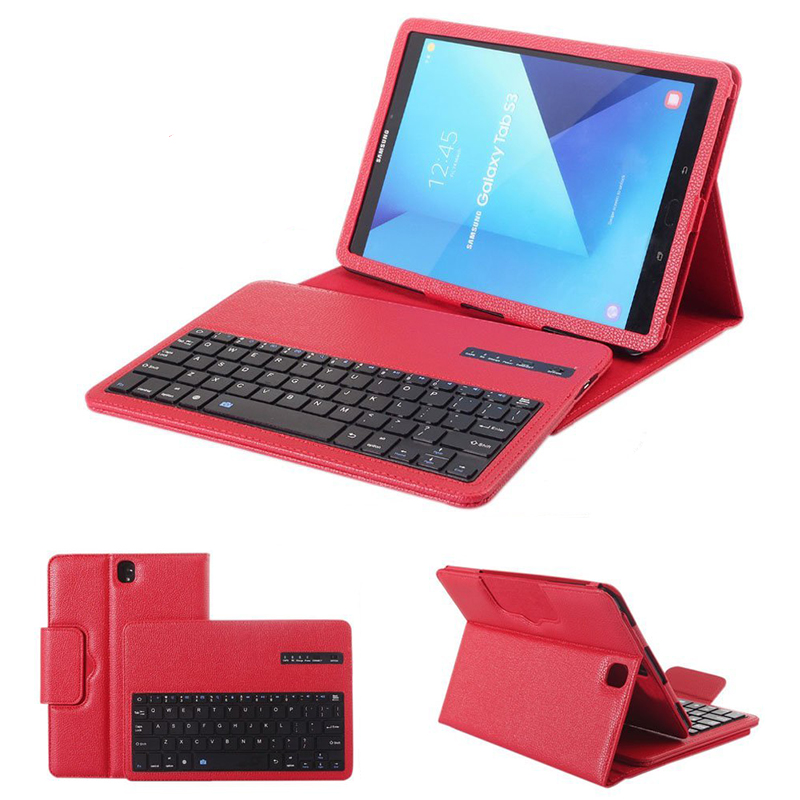 For Samsung Galaxy Tab S3 9.7 Keyboard Case , PU Leather Case Cover Bluetooth Keyboard For Galaxy Tab S3 9.7 SM-T820 T825 Funda планшет samsung galaxy tab s3 9 7 sm t820 wi fi 32gb черный