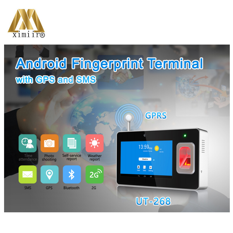 New Arrival Biometric TCP/IP UT-268 SMS Function Time Clock Fingerprint Time Attendance Fingerprint Time Recognition Machine