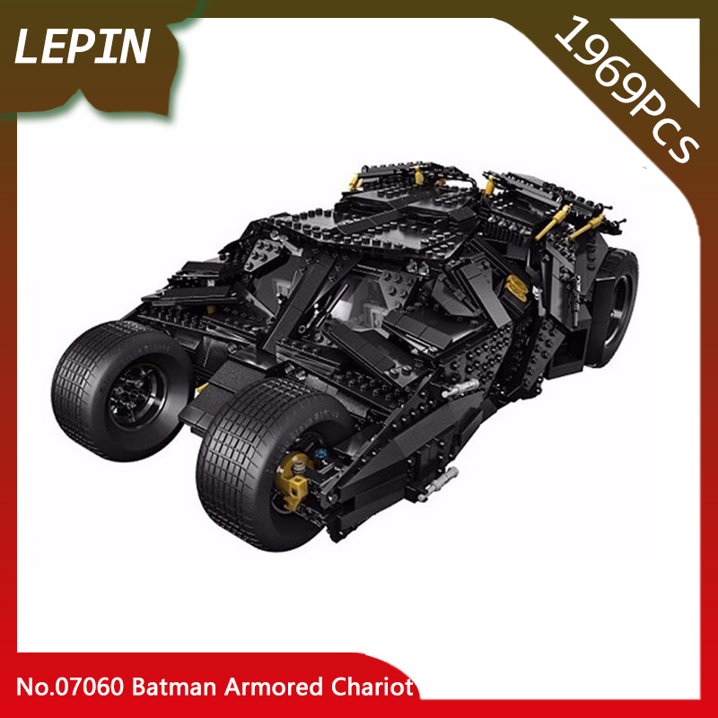 Lepin 07060 1969Pcs The Batman Armored Chariot Set 76023 Super Hero Movie Series Building Blocks Set Bricks Children Toys Gifts lepin 07060 super series heroes movie the batman armored chariot set diy model batmobile building blocks bricks children toys