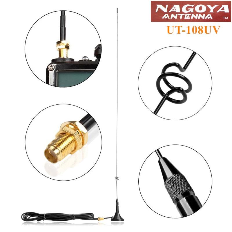 Nagoya UT-108UV SMA-F 144/430MHz Dual Band Antenna for BaoFeng UV-5R UV-6R GT-3 UV-82 BF-888S UV-B5 UV-B6 PX-888K