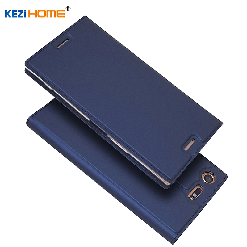 Pour Sony Xperia XZ Premium cas flip PU en cuir souple de silicium retour pour Sony Xperia XZ Premium couverture