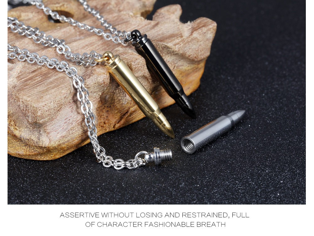 Cool bullet necklace charm treats pendant necklaces gx1047 10 men jewelry fashion gift gx1047 12 aloadofball Gallery