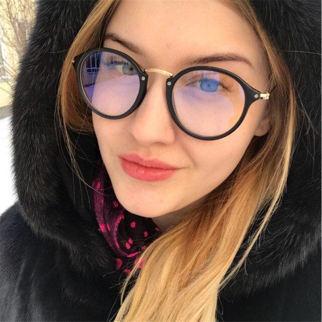 7d1123f3e New Luxury Brand Black Round Eyewear Cat Eye Reading Glasses Women  Transaprent Spectacles Frames For Men Computer Eyeglasses