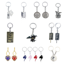 ФОТО hot anime cosplay jewelry wot world of tanks 221b keychain punk saint michael fairy tail tai chi car key chain holder men gifts