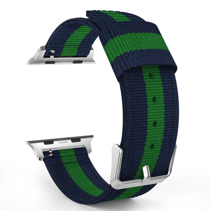 Wrist Strap For Apple Watch 38mm Fine Woven Nylon Adjustable Replacement Sport Band For iWatch 42mm Series 1 Series 2