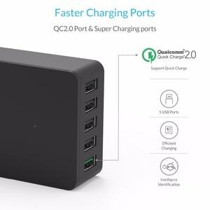 Image 2 - ORICO 5 Port USB Charger Desktop QC2.0 Quick Charger 5V2.4A 9V2A 12V1.5A for iPhone Samsung Huawei Tablet