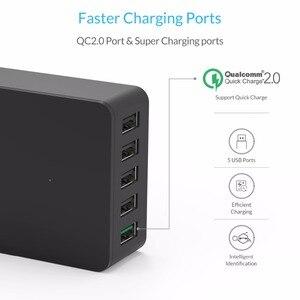Image 2 - ORICO 5 ports USB chargeur de bureau QC2.0 chargeur rapide 5V2.4A 9V2A 12V1.5A pour iPhone Samsung Huawei tablette