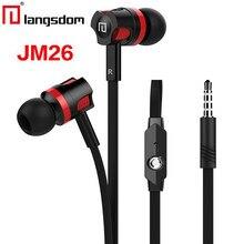 Langsdom номер JM26 наушники для телефона с микрофоном высокое качество музыки  наушники Super Bass Наушники красочные 4d17228581c8e