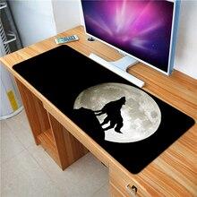 FFFAS большой игровой коврик для мыши серии животных черный полнолуние волк ноутбук применить защитную клавиатуру и мышь XL настольные коврики