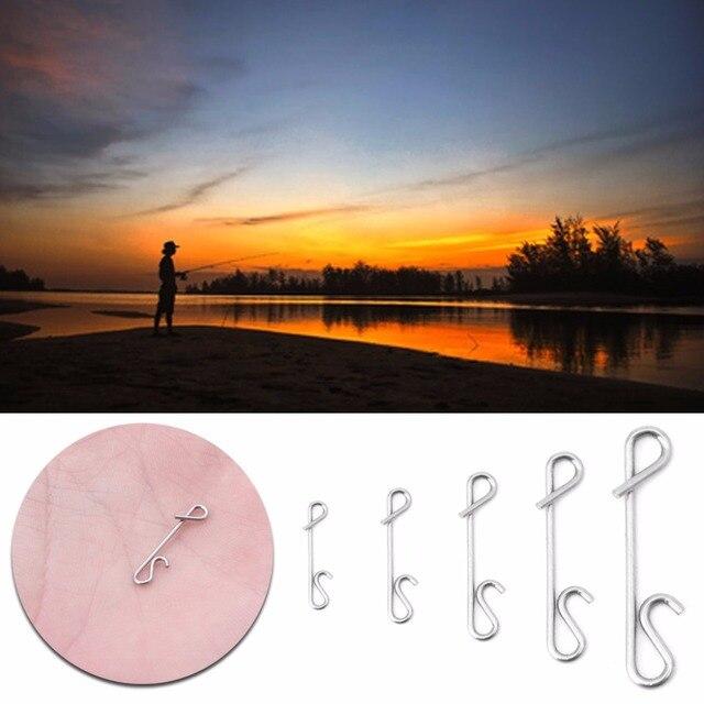50 piezas conectores trenzados sin nudos línea de pesca cable conector barril Kit giratorio