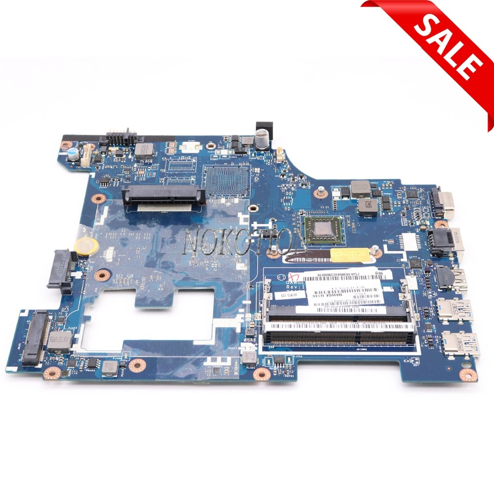 NOKOTION QAWGE LA-8681P Rev 1.0 Laptop Motherboard for lenovo ideapad G485 14'' DDR3 CMC70 Main board Full tested nokotion laptop motherboard for lenovo g505s 15 valgc gd la a091p r5 m230 2gb gpu ddr3 main board full tested